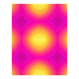 Flashy 70s,pink personalized letterhead