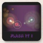 Flashy Background - 2 Coaster