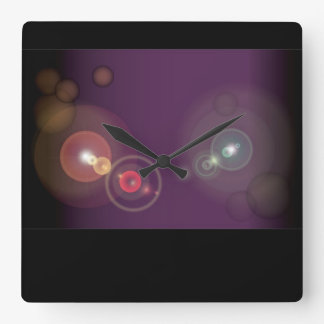 Flashy Background - 2 Square Wall Clock