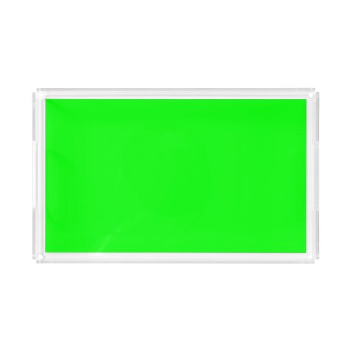 Flashy Bright Neon Green Accent Color Rectangle Serving Trays