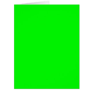 Flashy Bright Neon Green Accent Color Card