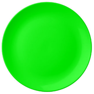 Flashy Bright Neon Green Accent Color Dinner Plate