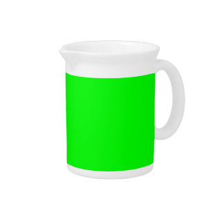 Flashy Bright Neon Green Accent Color Drink Pitchers