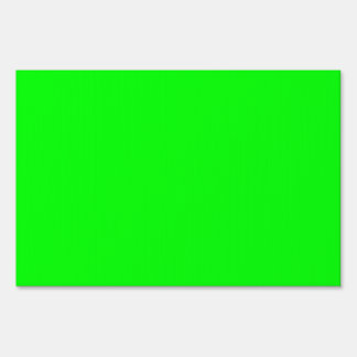 Flashy Bright Neon Green Accent Color Sign