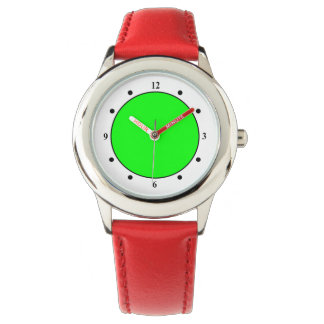Flashy Bright Neon Green Accent Color Wrist Watch