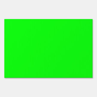 Flashy Bright Neon Green Accent Color Yard Sign