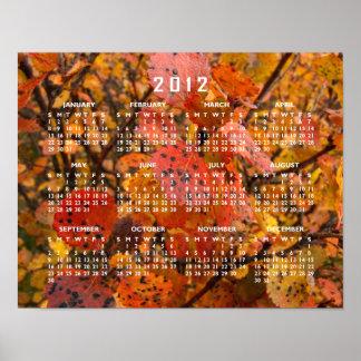 Flashy Fall; 2012 Calendar Poster