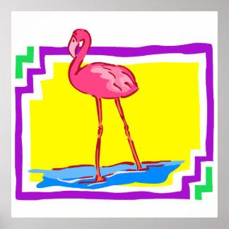 Flashy Flamingo Posters