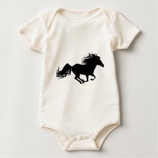 Flashy Horse Silhouette Baby Bodysuit