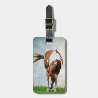 Flashy Paint Horse Mare Luggage Tag