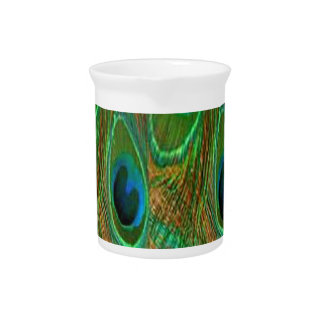 Flashy Peacock Drink Pitchers