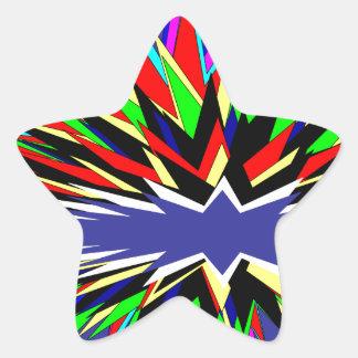 flashy purple star sticker