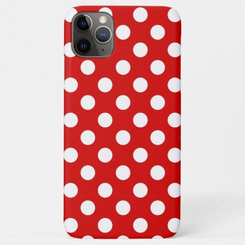 Flashy Red With Feminine White Polka Dot Pattern Phone Case