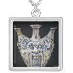 Flask, Florentine Workshop Square Pendant Necklace