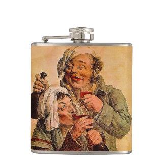 Flask fun vintage couple w/ tonic elixir nightcap
