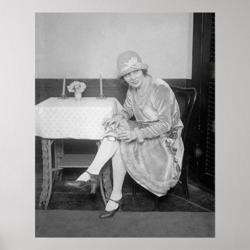 Flask Hidden in Garter, 1926 Poster