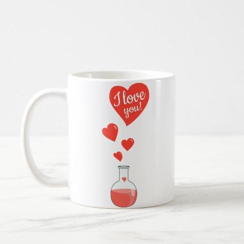 "Flask of Hearts Geek ""I Love You"" Mugs"