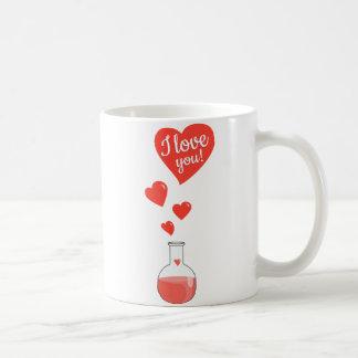 Flask of Hearts Geek I Love You Valentines Day Coffee Mug