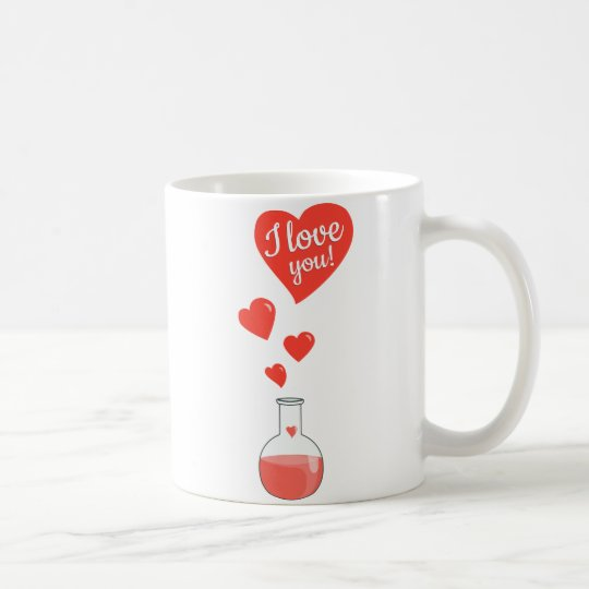 Flask of Hearts Geek I Love You Valentines Day Coffee Mug