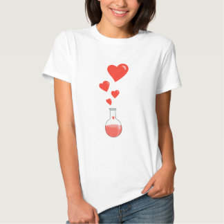 Flask of Hearts Science Geek Female Shirt