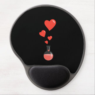 Flask of Hearts Science Geek Valentine's Day Gel Mouse Pad
