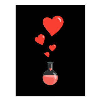 Flask of Hearts Science Pheromones Postcard