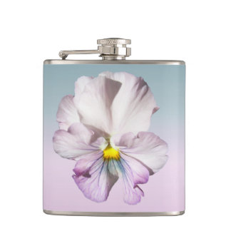 Flask - Ruffled Lavender Pansy