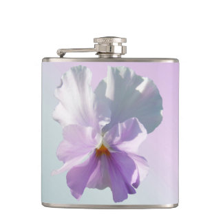 Flask - Ruffled Pink Pansy