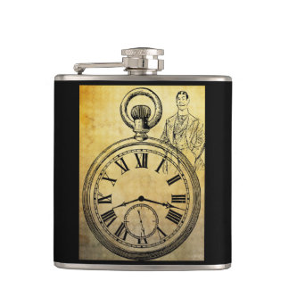 Flask with English gentleman.
