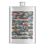 Flask with trains design flask