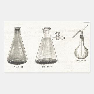 Flasks Rectangular Sticker