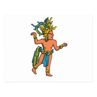 Flat Aztec Postcard