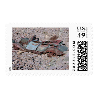 Flat car_28 stamp