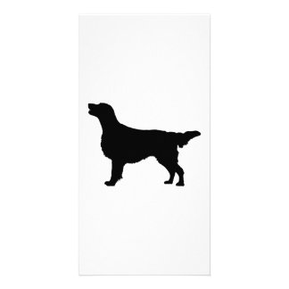 Flat Coated Retreiver Hunting dog Silhouette Card