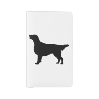 Flat Coated Retreiver Hunting dog Silhouette Large Moleskine Notebook Cover With Notebook