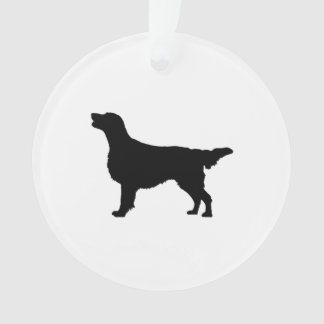 Flat Coated Retreiver Hunting dog Silhouette Ornament