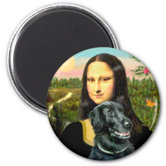 Flat Coated Retriever 2 - Mona Lisa Magnet