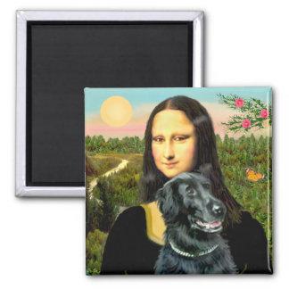Flat Coated Retriever 2 - Mona Lisa Fridge Magnets