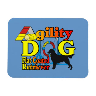 Flat Coated Retriever Agility Flexible Magnet