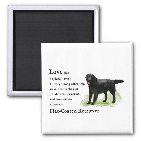 Flat-Coated Retriever Art Print Magnet