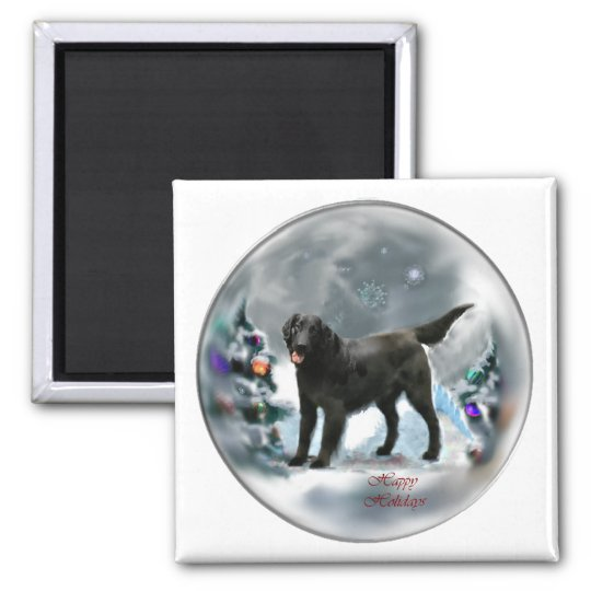 Flat-Coated Retriever Christmas Gifts Magnet