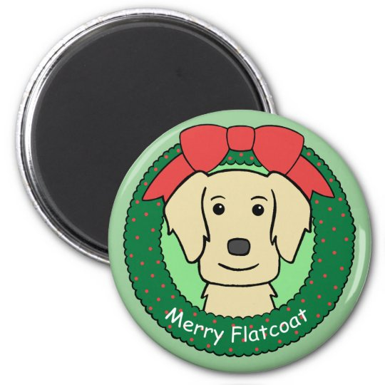 Flat-Coated Retriever Christmas Magnet