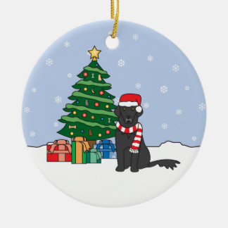 Flat-Coated Retriever Christmas Ornament