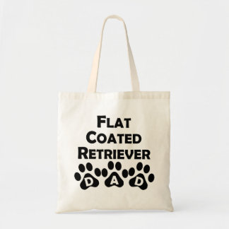 Flat-Coated Retriever Dad Canvas Bags