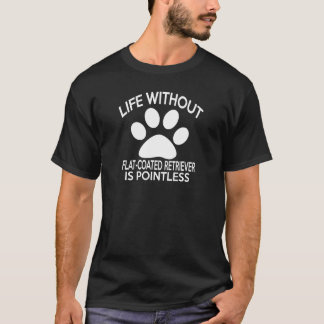 FLAT-COATED RETRIEVER DESIGNS T-Shirt