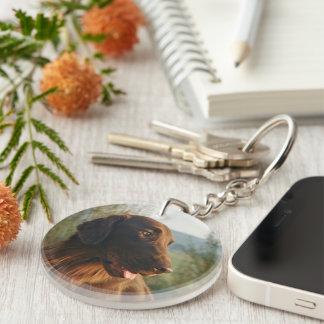 Flat Coated Retriever dog beautiful photo Acrylic Key Chains