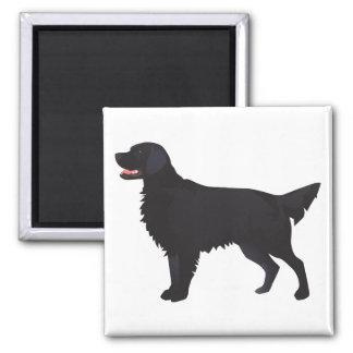 Flat-Coated Retriever Dog Breed Illustration Magnet