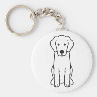 Flat-Coated Retriever Dog Cartoon Key Chains