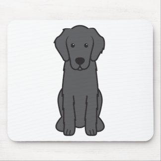 Flat Coated Retriever Dog Cartoon Mouse Pad