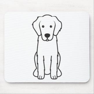 Flat-Coated Retriever Dog Cartoon Mouse Pad
